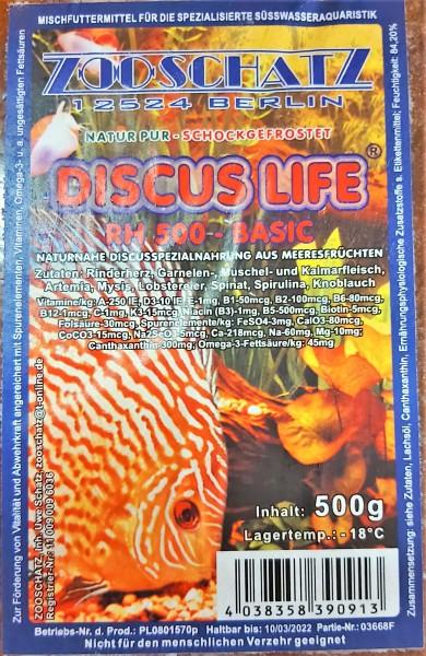 Discus life Rinderherz Flachtafel 500g das optimale Frostfutter für Zierfische und Garnelen für Laichansatz und Zucht