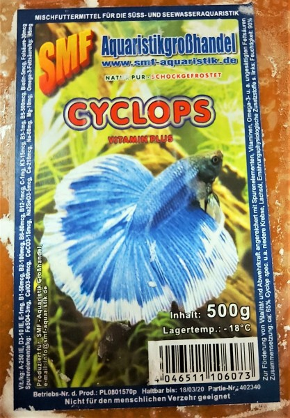 Cyclops - Flachtafel 500g das Frostfutter für kleine Zierfische und Fischlarven