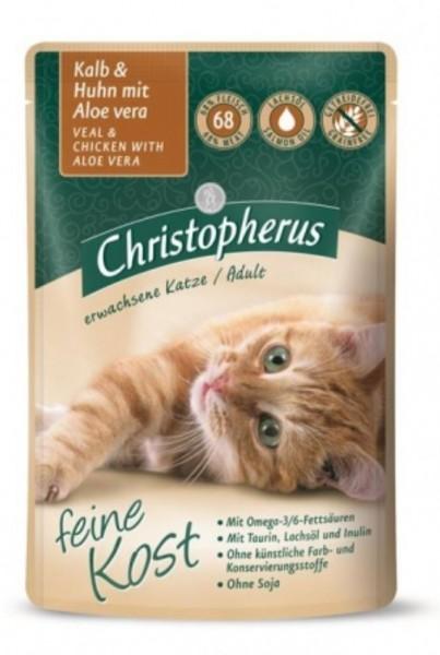 Christopherus Katzenfutter Kalb und Huhn 85g gedreitefreies Katzenfutter kaufen für des Beste Katzen Nassfutter Futter für Ihre Katze