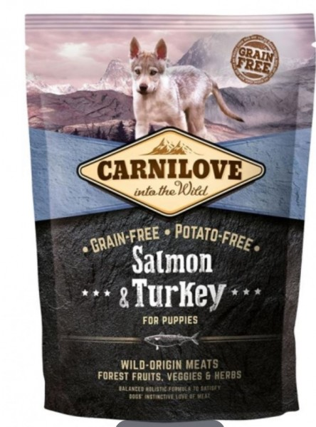 Carnilove Puppy Salmon Turkey 1,5kg Hundefutter Trockenfutter Nassfutter für Hunde von Carnilove das gesund Hundefutter