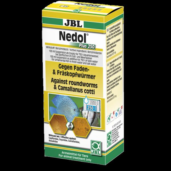 JBL Nedol Plus 250 Heilmittel gegen Faden- und Fräskopfwürmer für Aquarienfische bei Wiebies Aquawelt