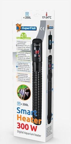 Smart Heater 300 Watt der elektrisch regelbare Heizstab mit Ausenregelung und LED Themperaturanzeige