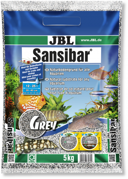 Sansibar Grey 5kg , Der feine Sansibar Sand von JBL für tolle naturnahe Aquariendekoration bei Wiebies Aquawelt