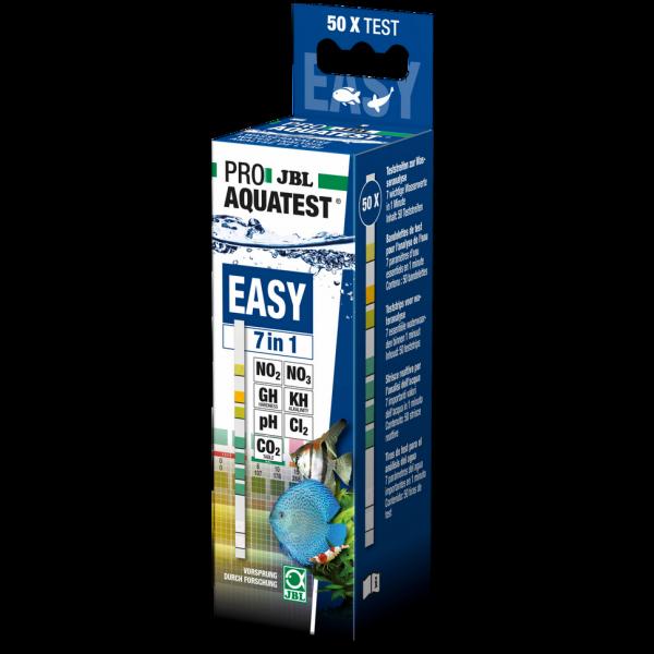 Aquatest Easy 7in1 der Schnelltest für die wichtigsten Wasserwerte im Aquarium. Der perfekte Aquariun Wassertest in Teststreifenform von JBL