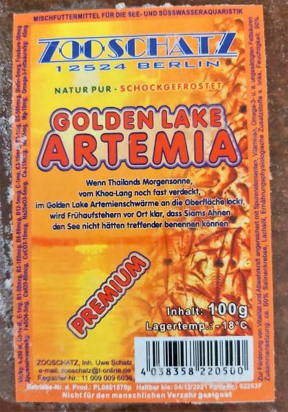 Artemia golden Lake-Flachtafel 100g das optimale Frostfutter für Zierfische und Garnelen für Laichansatz und Zucht