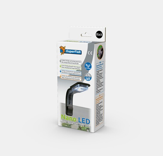 Nano LED Spot schwarz