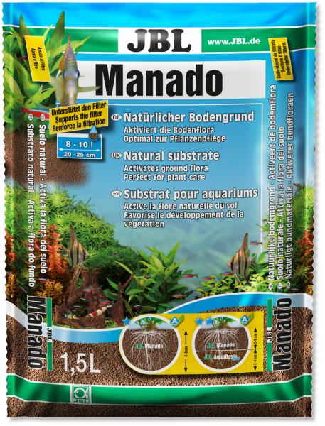 JBL Manado Bodengrund 5 Liter für natürliche Dekoration im Aquarium bei Wiebies Aquawelt
