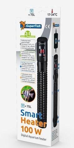 Smart Heater 100 Watt der elektrisch regelbare Heizstab mit Ausenregelung und LED Themperaturanzeige