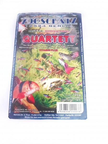 Frostfutter Quartett von Zoo Schatz, Frostfutter für Zierfische und Welse