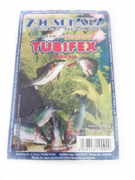 Tubifex Frostfutter als Blister für gutes Fischfutter für Panzerwelse in Dresden kaufen