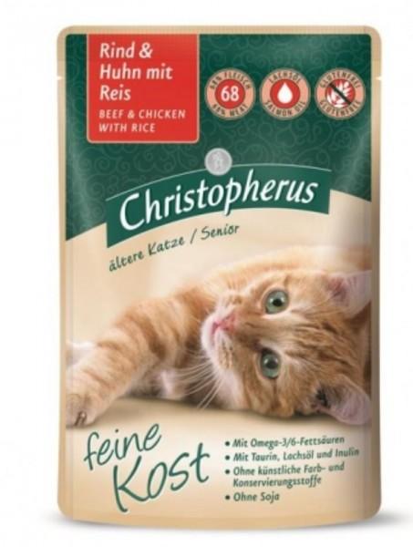 Christopherus KatzenfutterRind & Hihn mit reis 85g gedreitefreies Katzenfutter kaufen für des Beste Katzen Nassfutter Futter für Ihre Katze