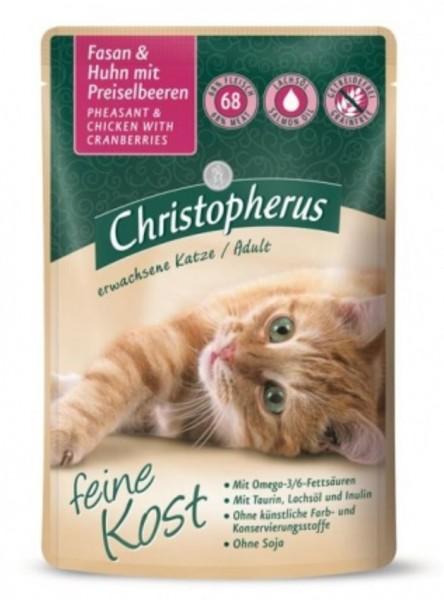 Christopherus Katzenfutter Fasan und Huhn 85g gedreitefreies Katzenfutter kaufen für des Beste Katzen Nassfutter Futter für Ihre Katze