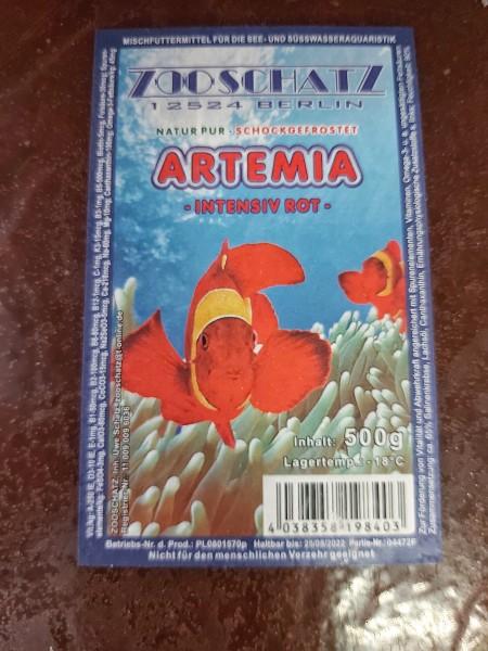 Artemia intensiv rot 500g Frostfutter in Dresden, Frostfutter für Zierfische kaufen.