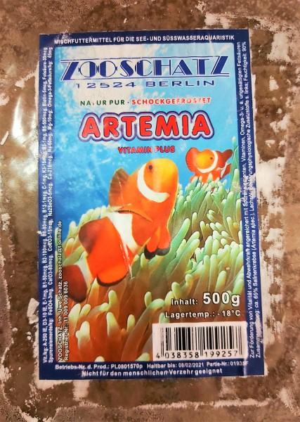 Artemia -Flachtafel 500g das optimale Frostfutter für Zierfische und Garnelen für Laichansatz und Zucht