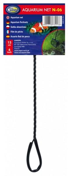 Aqua Nova N-06 15cm Fangnetz Kescher für Aquarienfische bei Wiebies Aquawelt