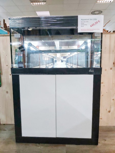 Aquariumset Black/ White 80cm x 35cm x 47cm