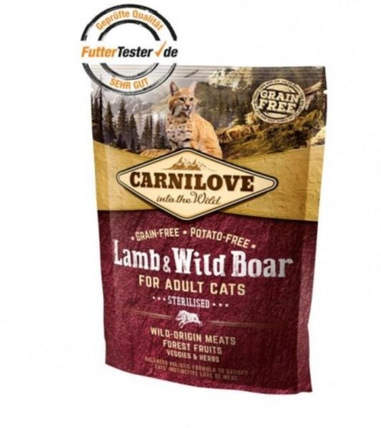 Carnilove Katzenfutter Lamb Wild Boar gedreitefreies Katzenfutter kaufen für des Beste Futter für Ihre Katze