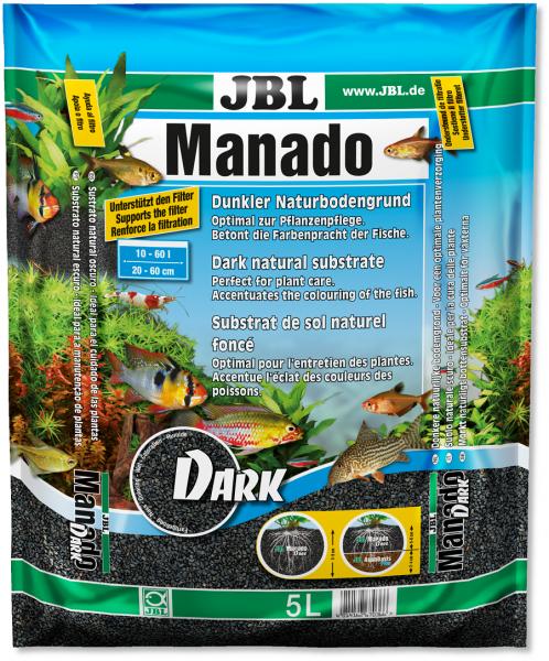 Manado natur 10 Liter, Manado, Bodengrund, Kies, Sand, natürlicher Bodengrung, JBL, JBL Manado,