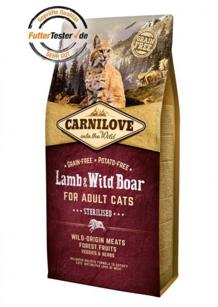 Carnilove Katzenfutter Lamp & Wildboar gedreitefreies Katzenfutter kaufen für des Beste Futter für Ihre Katze