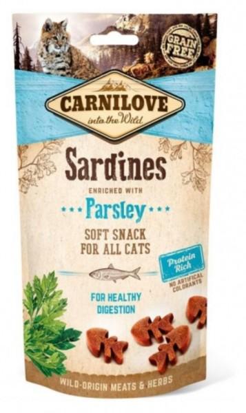 Carnilove Softsnack Sardines 50g der Snack für Katzen mit geschmack, Katzennassfutter Carnilove Trockenfutter