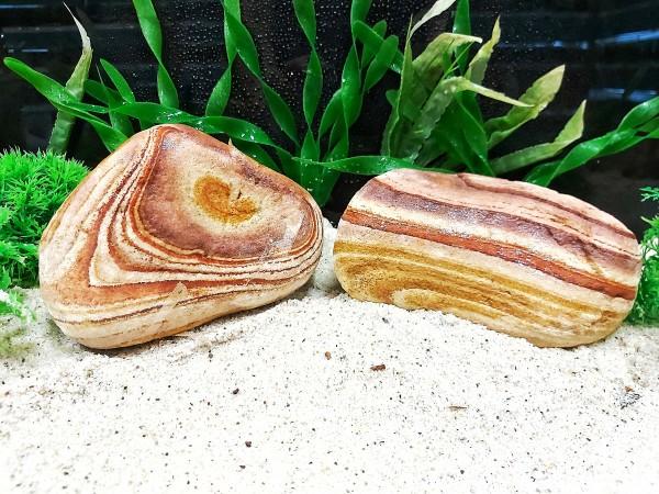 Regenbogensteine die natürliche bunte Gestalltund von Aquarien mit Drachensteinen, Pagodensteinen, Lava Steinen bei Wiebies Aquawelt