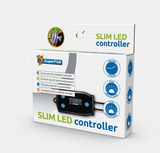 Der Slim LED Controller von Superfish direkt bei wiebies Aquawelt für das Einstellen der optimalen Beleuchtungszeiten von LED Beleuchtungen