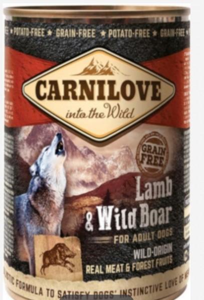 Carnilove Lamb und Wild boar 400g Hundefutter Nassfutter für Hunde von Carnilove das gesund Hundefutter