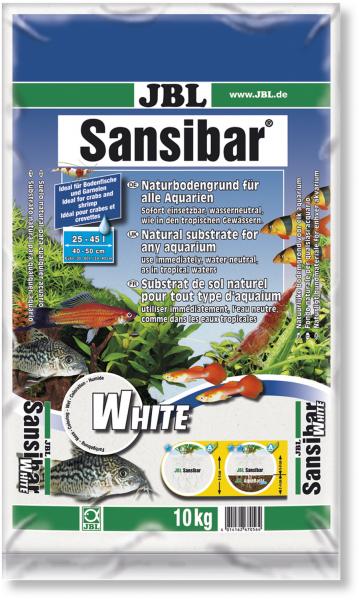 Sansibar white 10kg der natürliche helle Bodengrund von JBL bei Wiebies Aquawelt