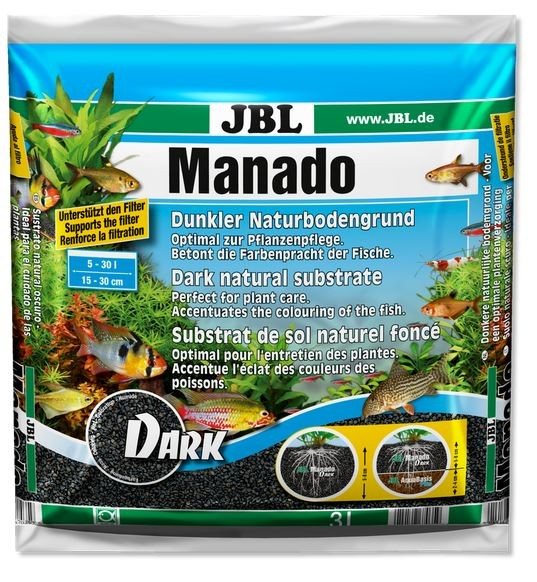 Manado dark 3 Liter, Manado, Bodengrund, Kies, Sand, natürlicher Bodengrung, JBL, JBL Manado,