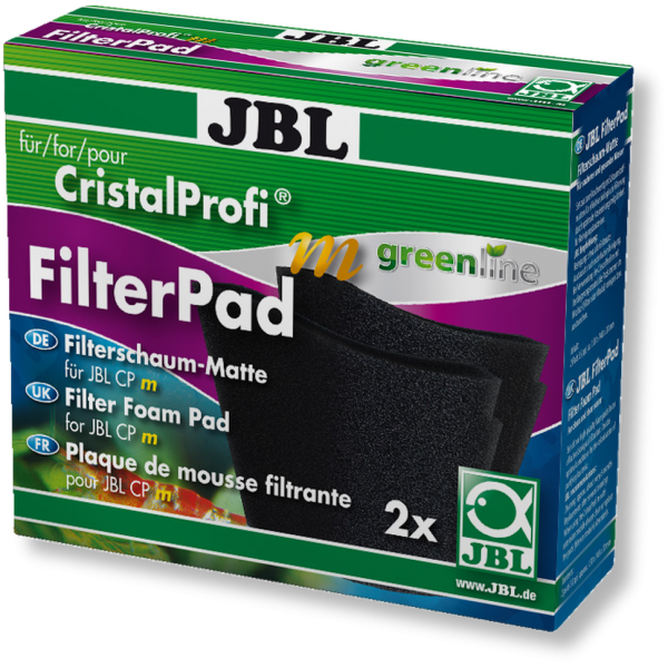 Cristal Profi m Greenline Filter Pad doppelpack, Ersatzfiltermatten für den Cristal Profi m greenline Filter von JBL