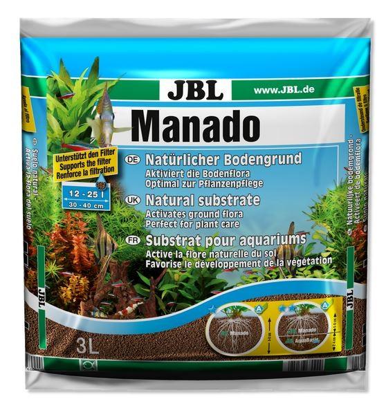 JBL Manado Bodengrund 10 Liter für natürliche Dekoration im Aquarium bei Wiebies Aquawelt