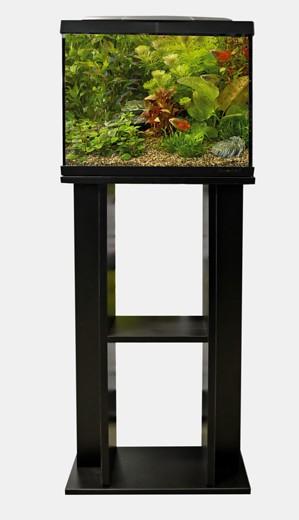 Aquarienunterschrank Startkit 50 aus MDF schwarz lackiert für ein schönes Aquarium, weitere Aquarien, Zierfische und Garnelen bei Wiebies Aquawelt