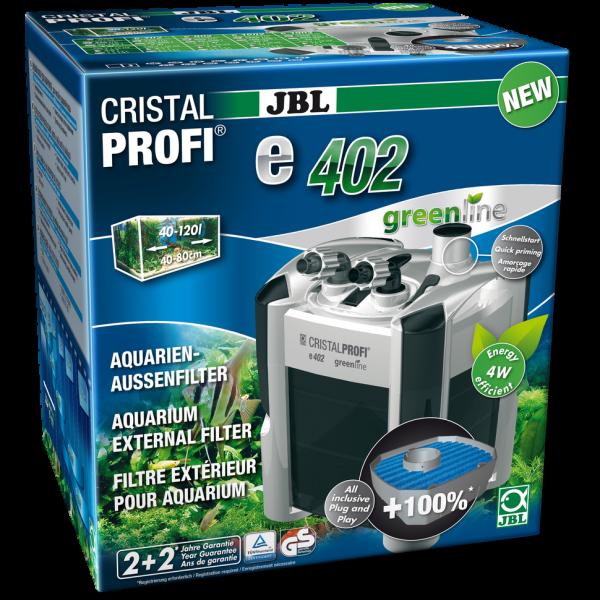 Cristal Profi 402e der ute Außenfilter für saubere und gut gefilterte Aquarien bis 120 Liter JBL Produkte bei Wiebies Aquawelt