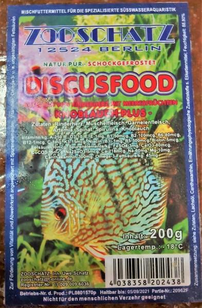 Discus life Knoblauch -Flachtafel 200g das optimale Frostfutter für Zierfische und Garnelen für Laichansatz und Zucht
